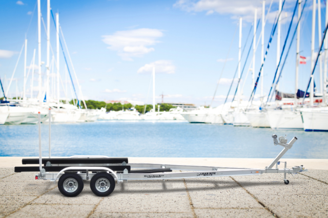 Boat Trailer By The Beach
